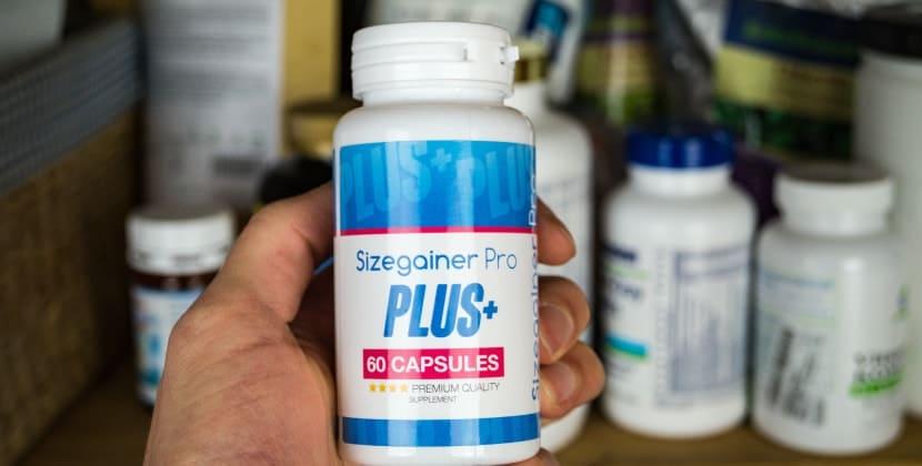 Verpackung von Sizegainer Pro Plus aus der Frontansicht
