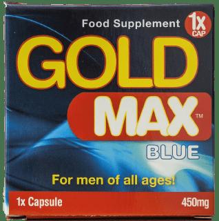 Gold Max Blue - die Verpackung ohne Nebenwirkungen.