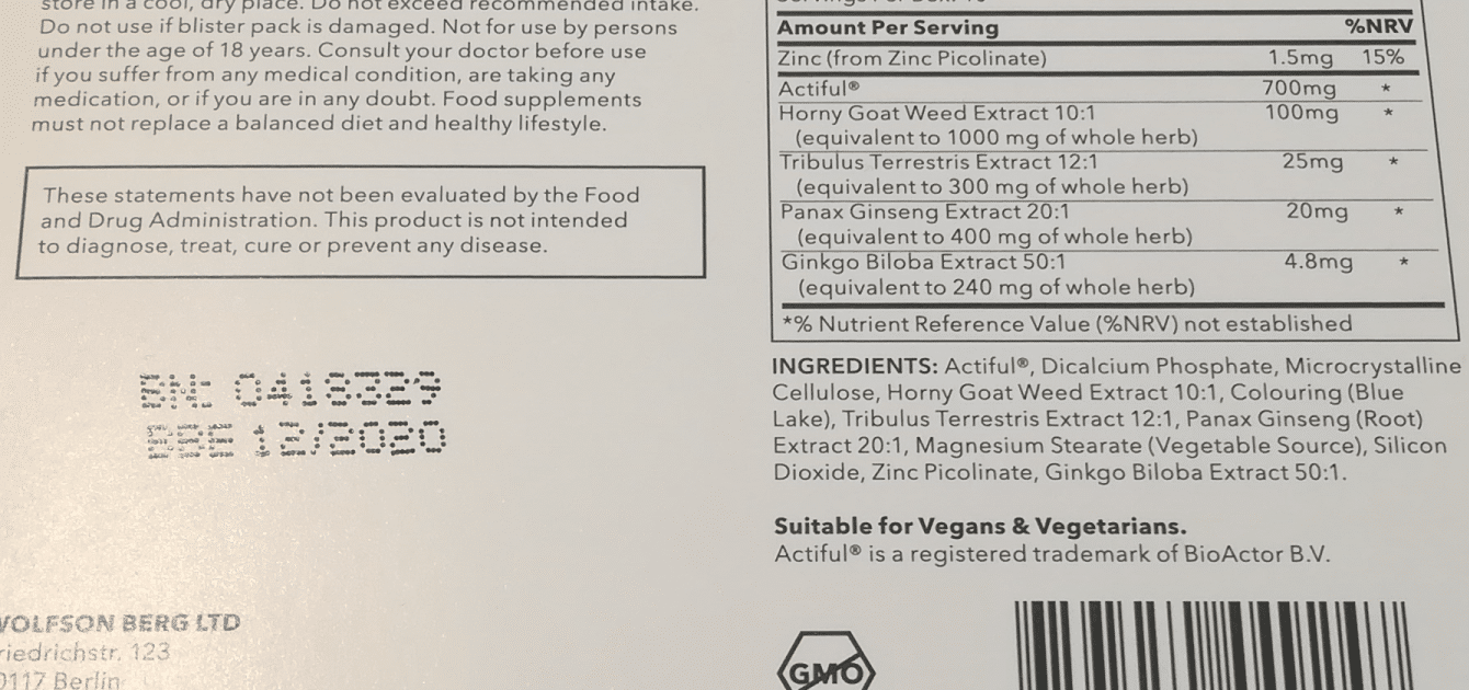 Die Inhaltsstoffe von Viasil im Überblick.